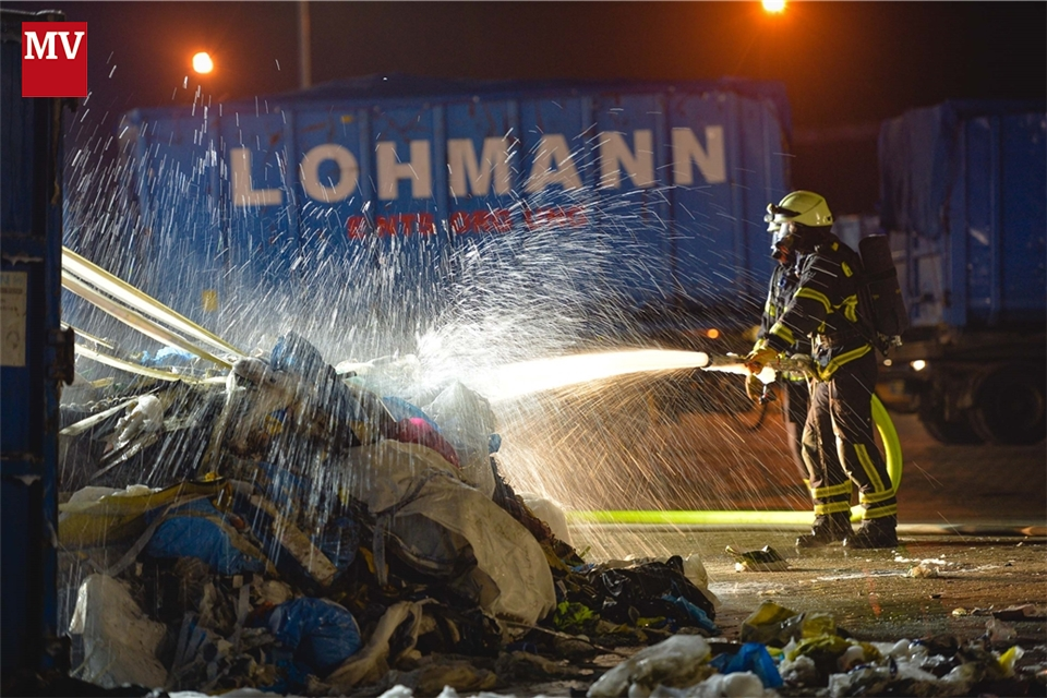Containerbrand bei Lohmann