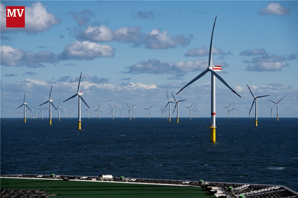 Windpark Trianel Borkum II fertiggestellt